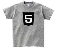 HTML5Tシャツ(ONE COLOR LOGOS)