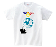 オバマTシャツ Obama change the world?